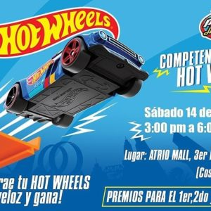 Competencia de Hot Wheels en Piruetas Hobbies & Toy's
