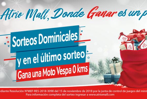"""Rifa Navideña """"Atrio Mall, Donde Ganar es un Paseo"""""""